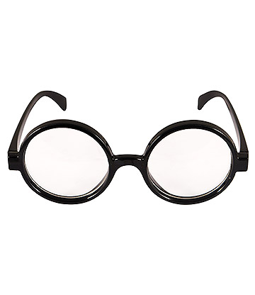 Blue Banana Wizard Boy Glasses (Black)