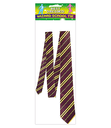 Blue Banana School Wizard Tie (Purple/Yellow)