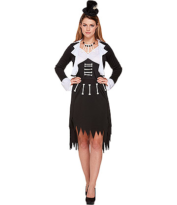 Blue Banana Voodoo Women's Fancy Dress Costume (Black/White)