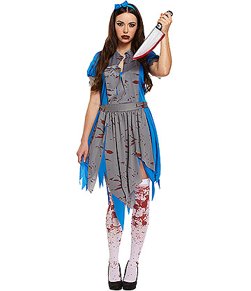 Blue Banana Horror Alice Costume (Blue/Grey)
