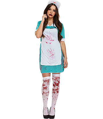 Blue Banana Bloody Nurse Costume (Green)