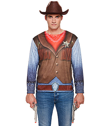 Blue Banana Men's Cowboy Costume (Multicoloured)