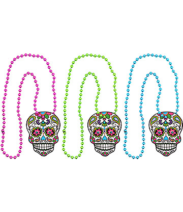 Blue Banana Day Of The Dead Necklace (Multicoloured)