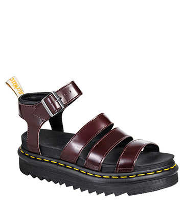 Dr Martens Vegan Blaire Sandals (Cherry Red)