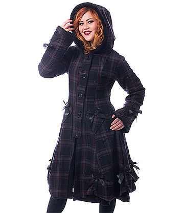 Poizen Industries Alice Check Coat (Black)