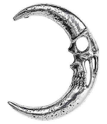 Alchemy Gothic Moonskull Ear Wrap (Pewter)