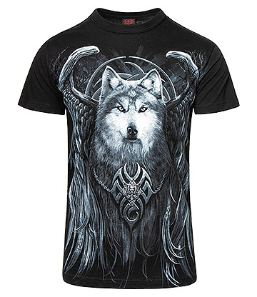 Spiral Direct Wolf Spirit T Shirt (Black)