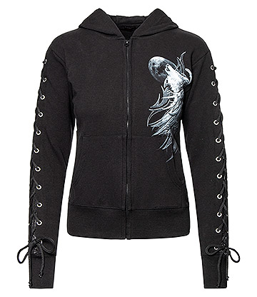 Spiral Direct Wolf Spirit Glitter Hoodie (Black)