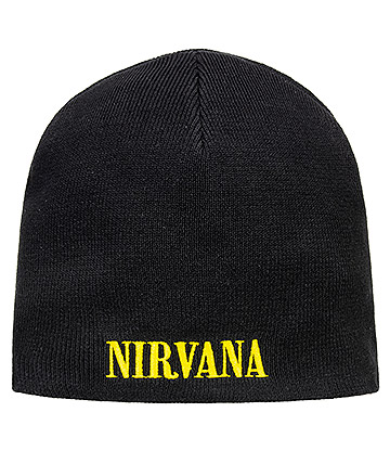 Official Nirvana Smiley Beanie Hat (Black)