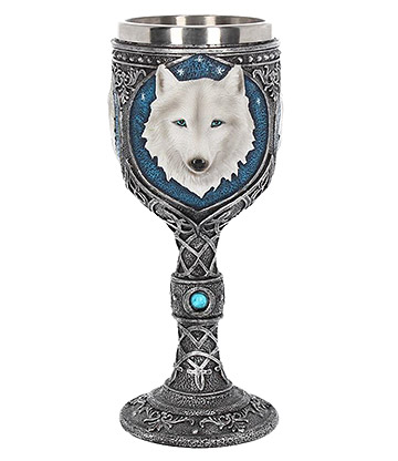 Nemesis Now Ghost Wolf Goblet (Silver)
