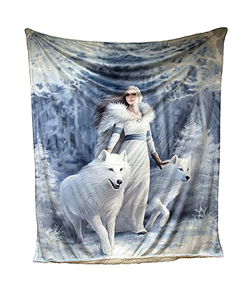 Anne Stokes Winter Guardian Throw (160cm)