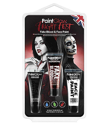 Paintglow Fright Fest Fake Blood & Face Paint (Multicoloured)