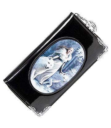 Anne Stokes Winter Guardian 3D Purse (Black)