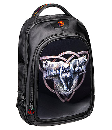 Anne Stokes Wolf Trio 3D Backpack (Black)