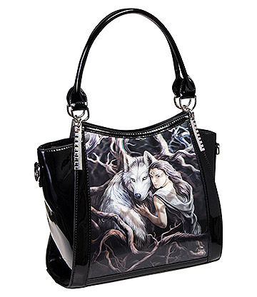Anne Stokes Soul Bond 3D Handbag (Black)