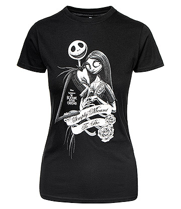 Nightmare Before Christmas Simply Meant T Shirt (Black)