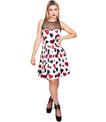 Jawbreaker Hearts Desire Dress (Beige)