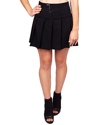 Jawbreaker Straps & Buckle Mini Skirt (Black)