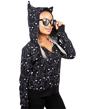 Jawbreaker Grumpy Kitty Salem Hoodie (Black)