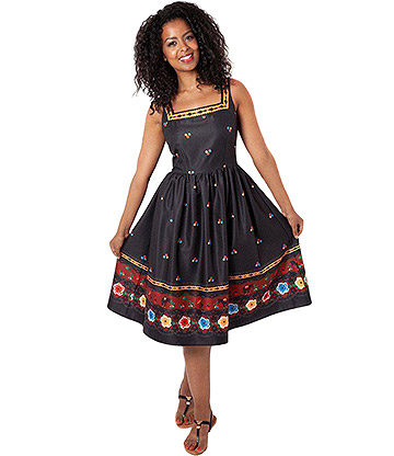 Voodoo Vixen Fearne Fiesta Flared Dress (Multi)