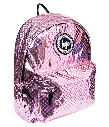 Hype Metallic Polka Dot Backpack (Pink)