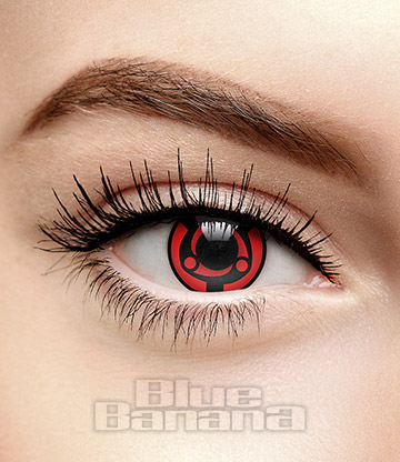 Madara Mangekyou Sharingan 30 Day Coloured Contact Lenses (Red)