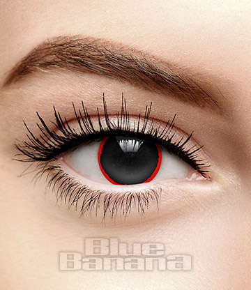 Hellraiser 30 Day Coloured Contact Lenses (Black)