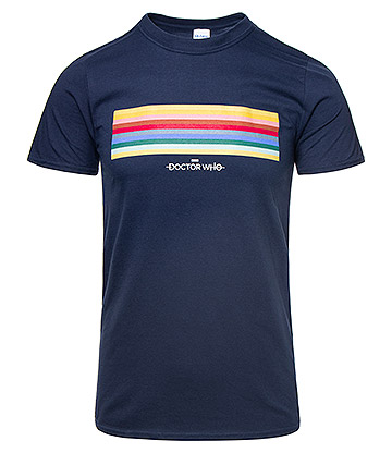Doctor Who 13th Doctor Striped T Shirt (Navy)