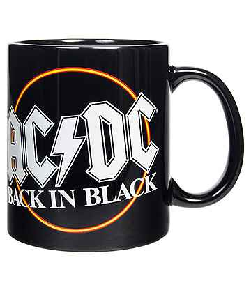 Official AD/DC Back In Black Mug (Black)