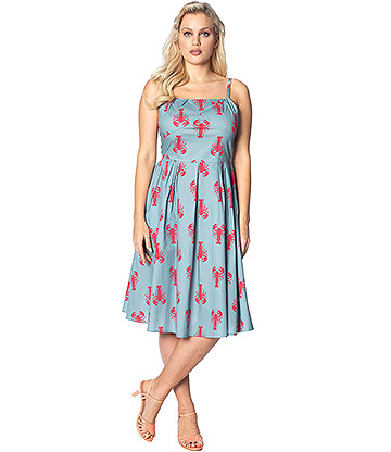 Banned Lobster Love Dress (Blue)