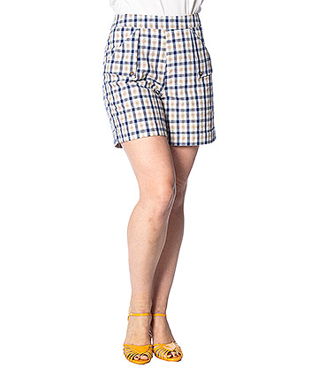 Banned Retro Let's Vacay Tartan Shorts (Multicoloured)