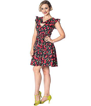 Banned Rockabilly Cherries Dress (Multicoloured)
