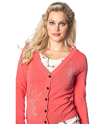 Banned Elaborate Peacock Cardigan (Pink)