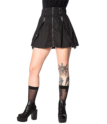 Banned Bondage Straps Skirt (Black)