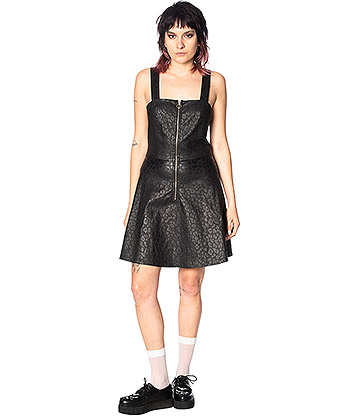 Banned Glam Goth Leopard Dress (Black)