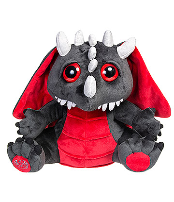 Spiral Direct Baby Dragon Plush Toy (Black/Red)