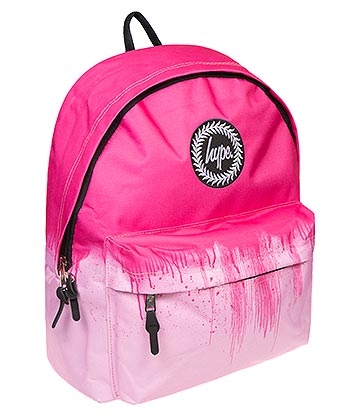 Hype Fuchsia Drips Backpack (Pink)