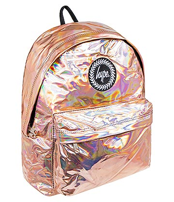 Hype Holographic Backpack (Rose Gold)