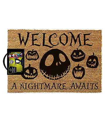 Nightmare Before Christmas Door Mat