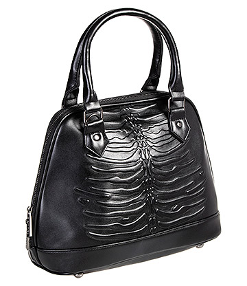 Banned Umbra Emboss Handbag (Black)
