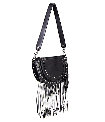 Banned Valonia Fringe 3 Moon Bag (Black)