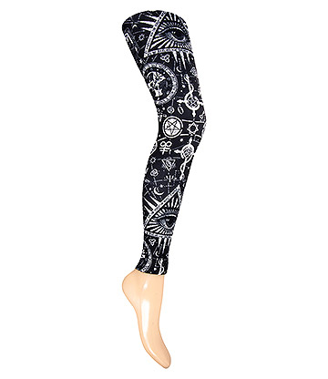 KukuBird Occult Leggings (Black/White)