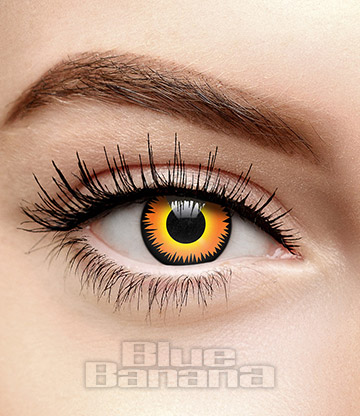 Werewolf Fire 1 Day Coloured Contact Lenses (Orange)