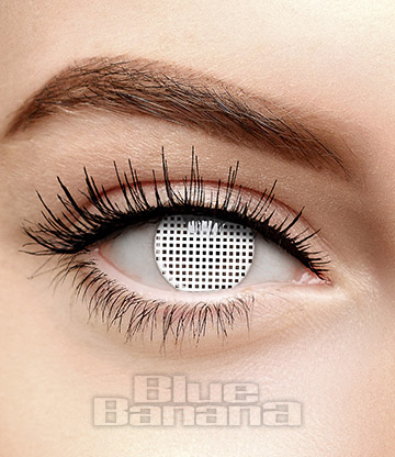 Mesh Halloween 1 Day Coloured Contact Lenses (White)
