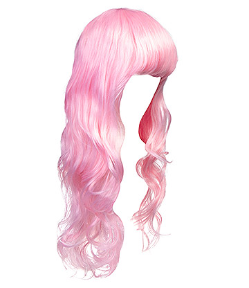 Blue Banana Bright Coloured Long Wig (Baby Pink)