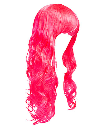 Blue Banana Bright Coloured Long Wig (Neon Pink)