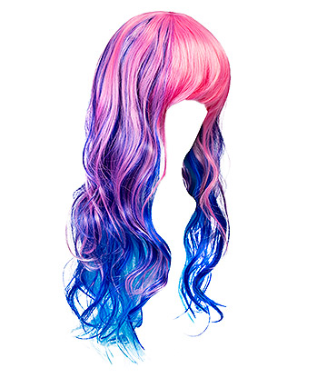 Blue Banana Bright Coloured Long Wig (Multicolured)