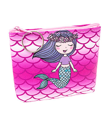 Blue Banana Mermaid Scales Purse (Pink)