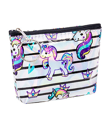 Blue Banana Unicorn Stripe Purse (Multicoloured)