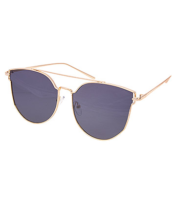 Blue Banana Gold Frame Sunglasses (Black/Gold)